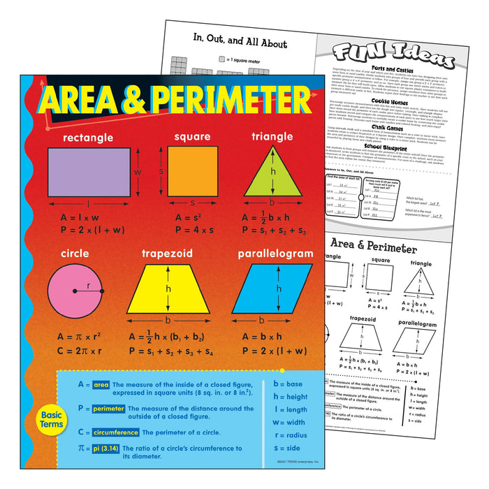 T38019 Learning Chart Area Perimeter