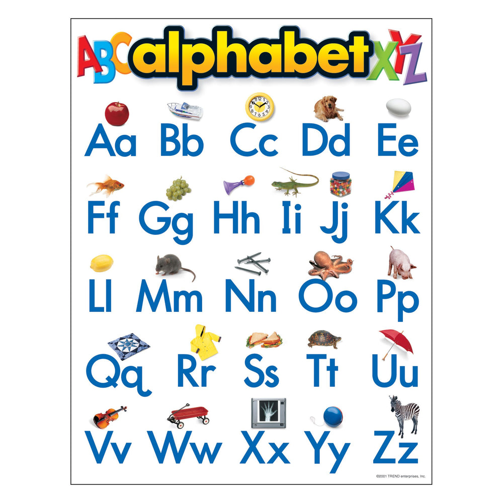 T38026 Learning Chart Alphabet