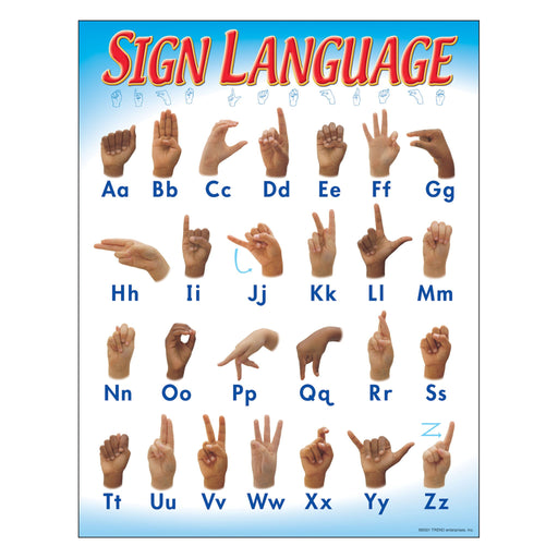T38039 Learning Chart Sign Language