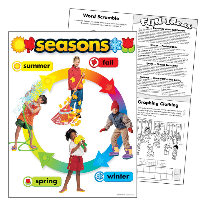 T38050 Learning Chart Seasons