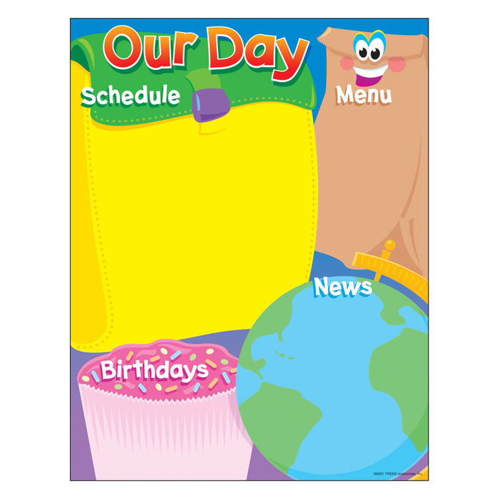 T38076 Learning Chart Our Day