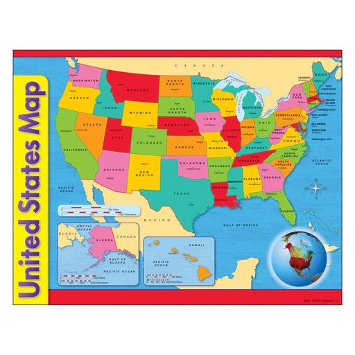 T38097 Learning Chart United States America Map