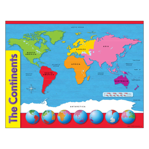 T38098 Learning Chart The Continents Map
