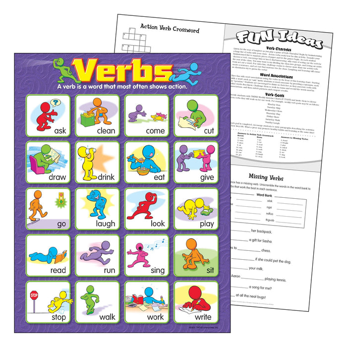 T38131 Learning Chart Verbs
