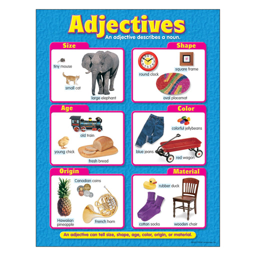 T38132 Learning Chart Adjectives