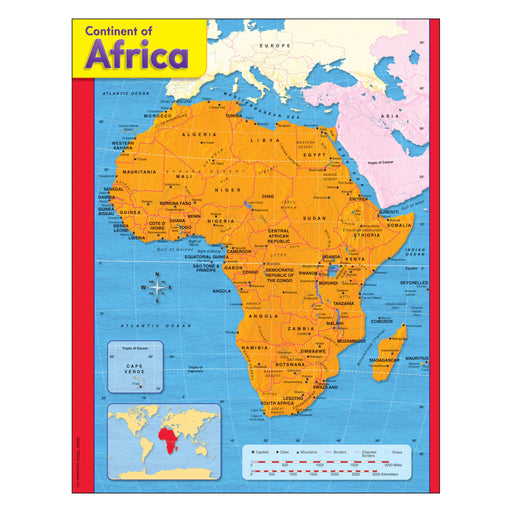 T38138 Learning Chart Africa Map