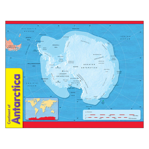 T38139 Learning Chart Antarctica Map