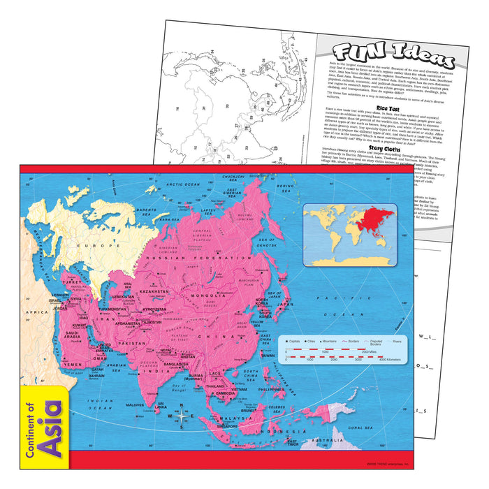 T38140 Learning Chart Asia Map