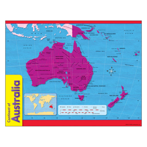 T38141 Learning Chart Australia Map
