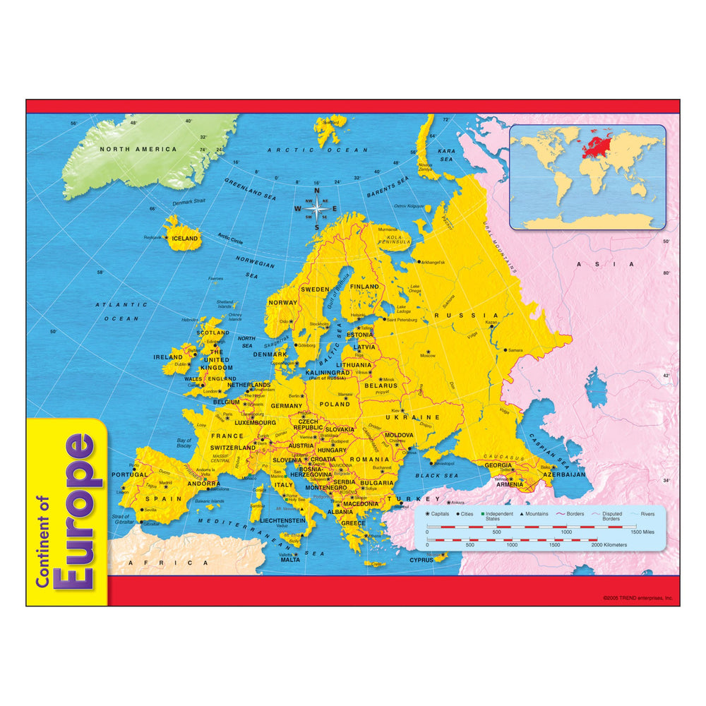 T38142 Learning Chart Europe Map