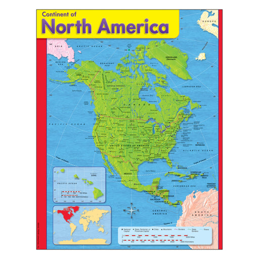 T38143 Learning Chart North America Map
