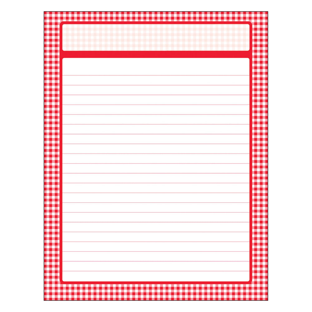 T38219 Learning Chart Red Gingham