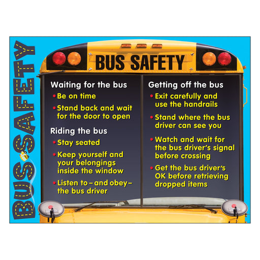 T38232 Learning Chart Bus Safety