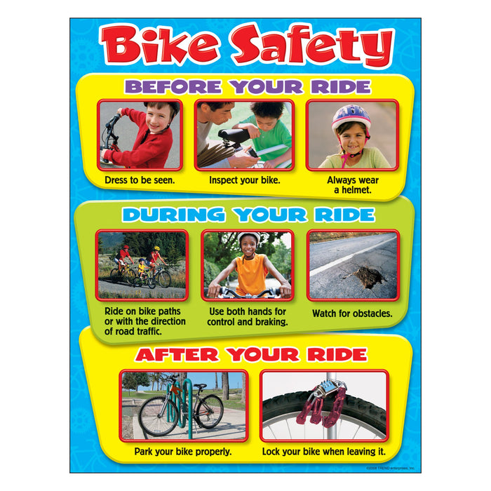 T38236 Learning Chart Bike Safety