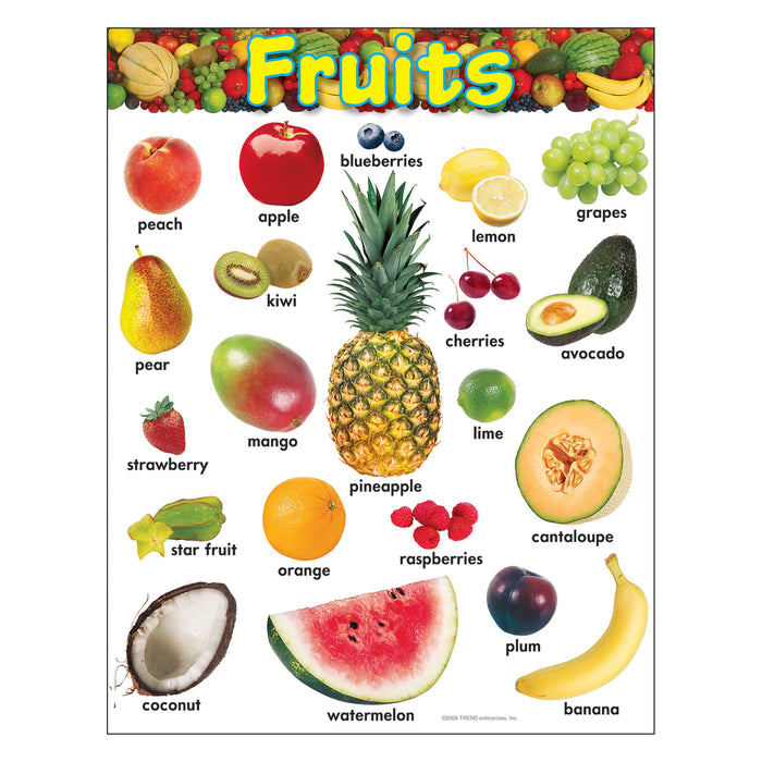 T38247 Learning Chart Fruit