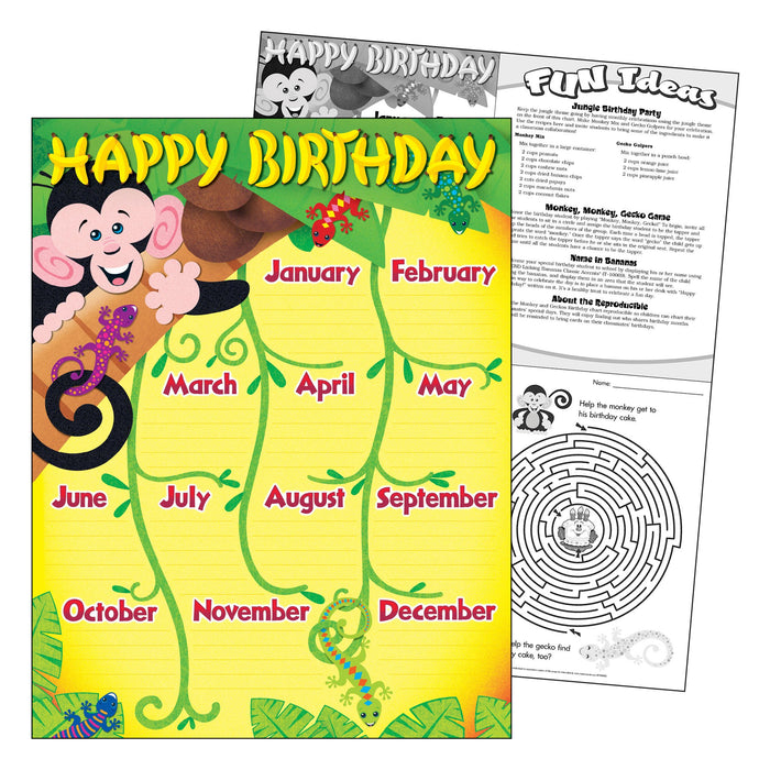 T38263 Learning Chart Monkey Birthday