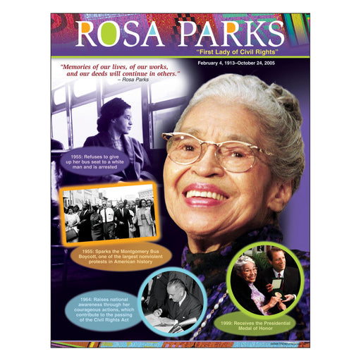 T38304 Learning Chart Rosa Parks