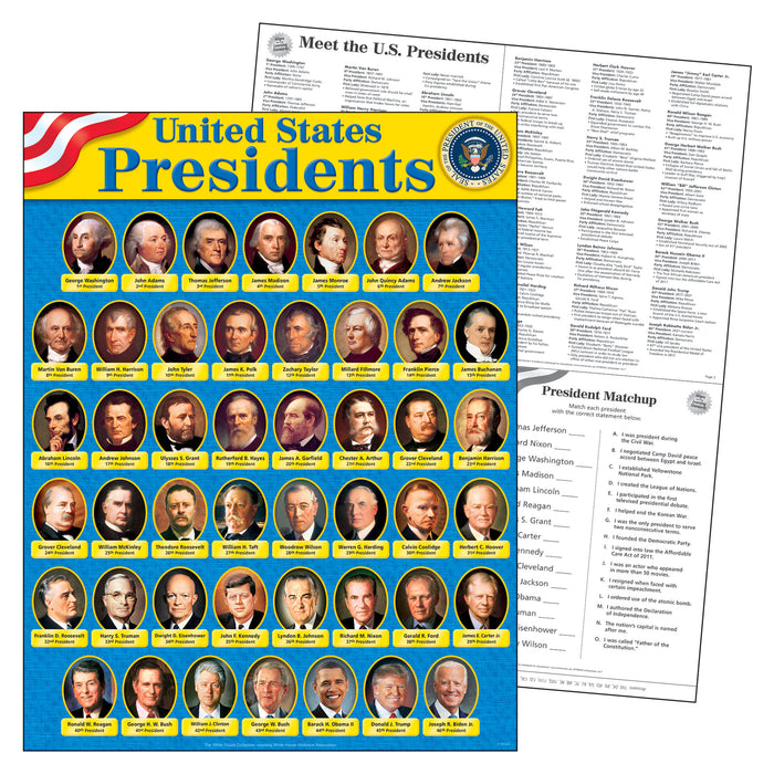 T38310 Learning Chart United States Presidents