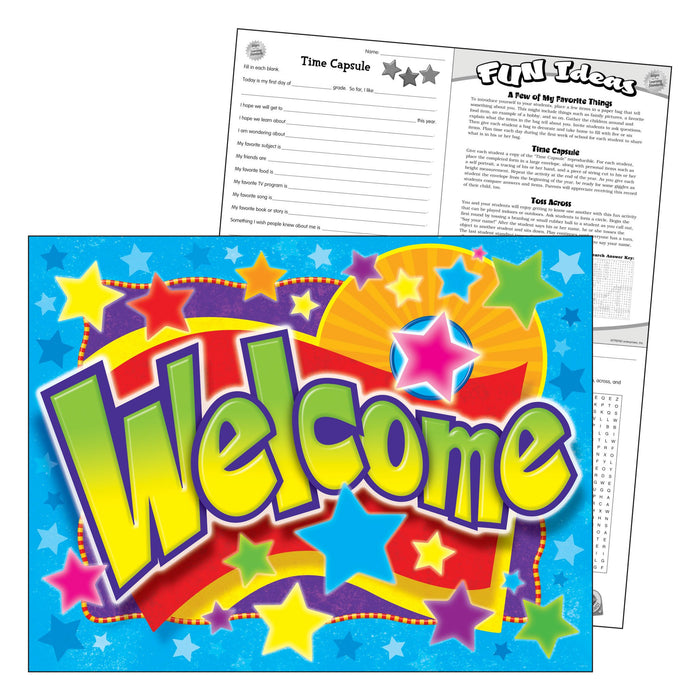 T38334 Learning Chart Welcome Stars