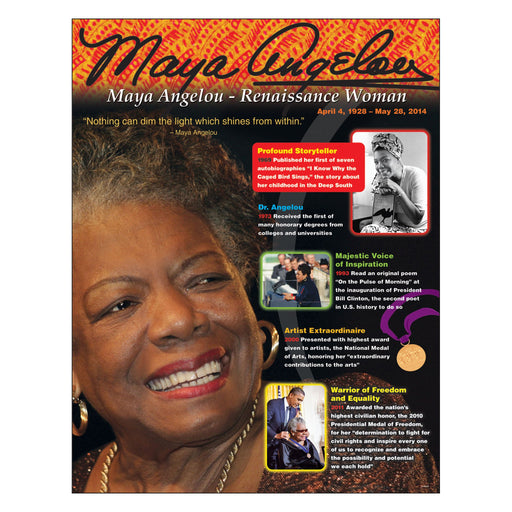 T38341 Learning Chart Maya Angelou
