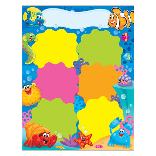 T38356 Learning Chart Job Chart Sea Life
