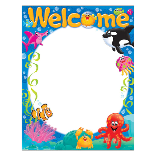 T38357 Learning Chart Welcome Sea Life