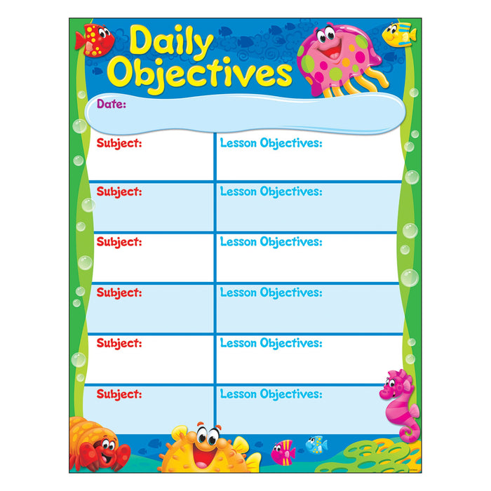 T38359 Learning Chart Objectives Sea Life