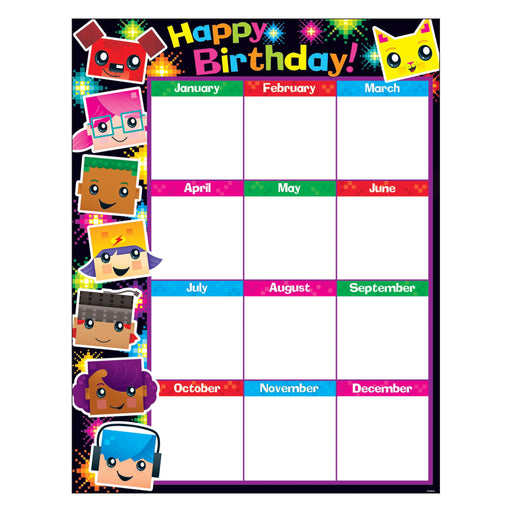 T38371 Learning Chart Birthday Block Star Kids
