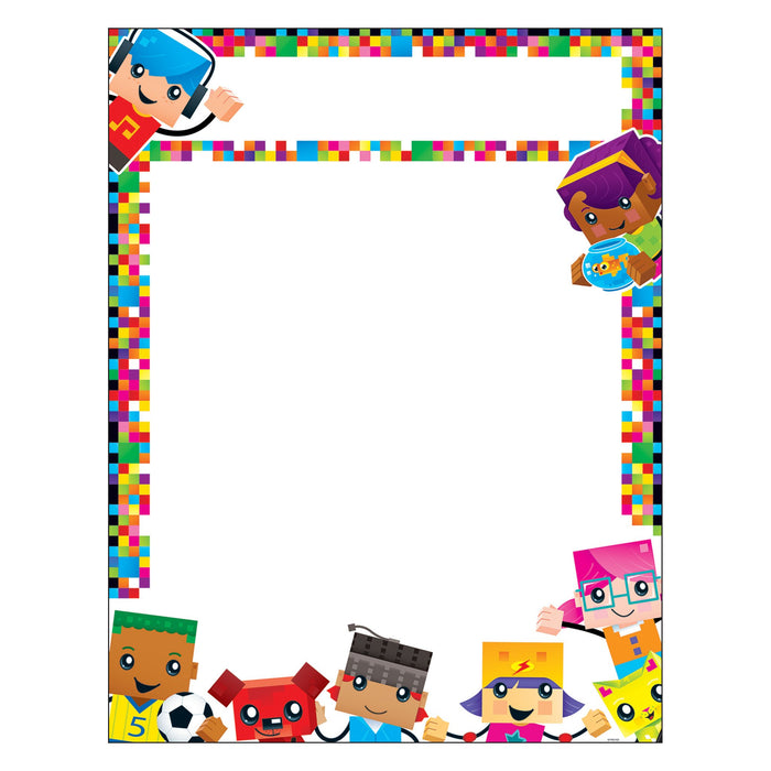 T38372 Learning Chart Blank Block Star Kids