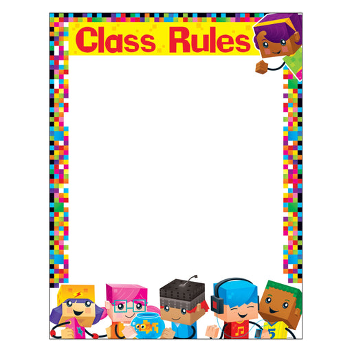 T38373 Learning Chart Class Rules Block Star Kids