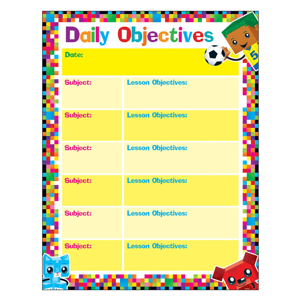 T38374 Learning Chart Objectives Block Star Kids