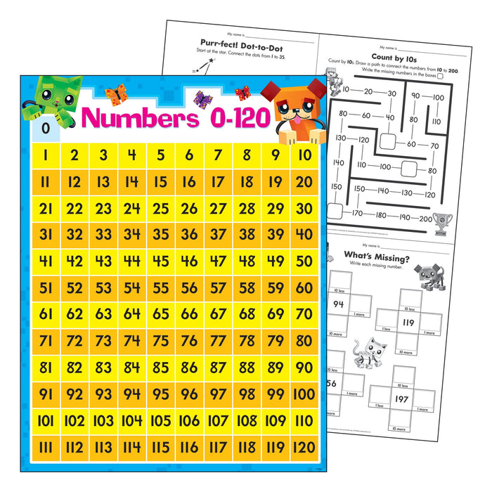 T38378 Learning Chart Numbers Block Star Kids
