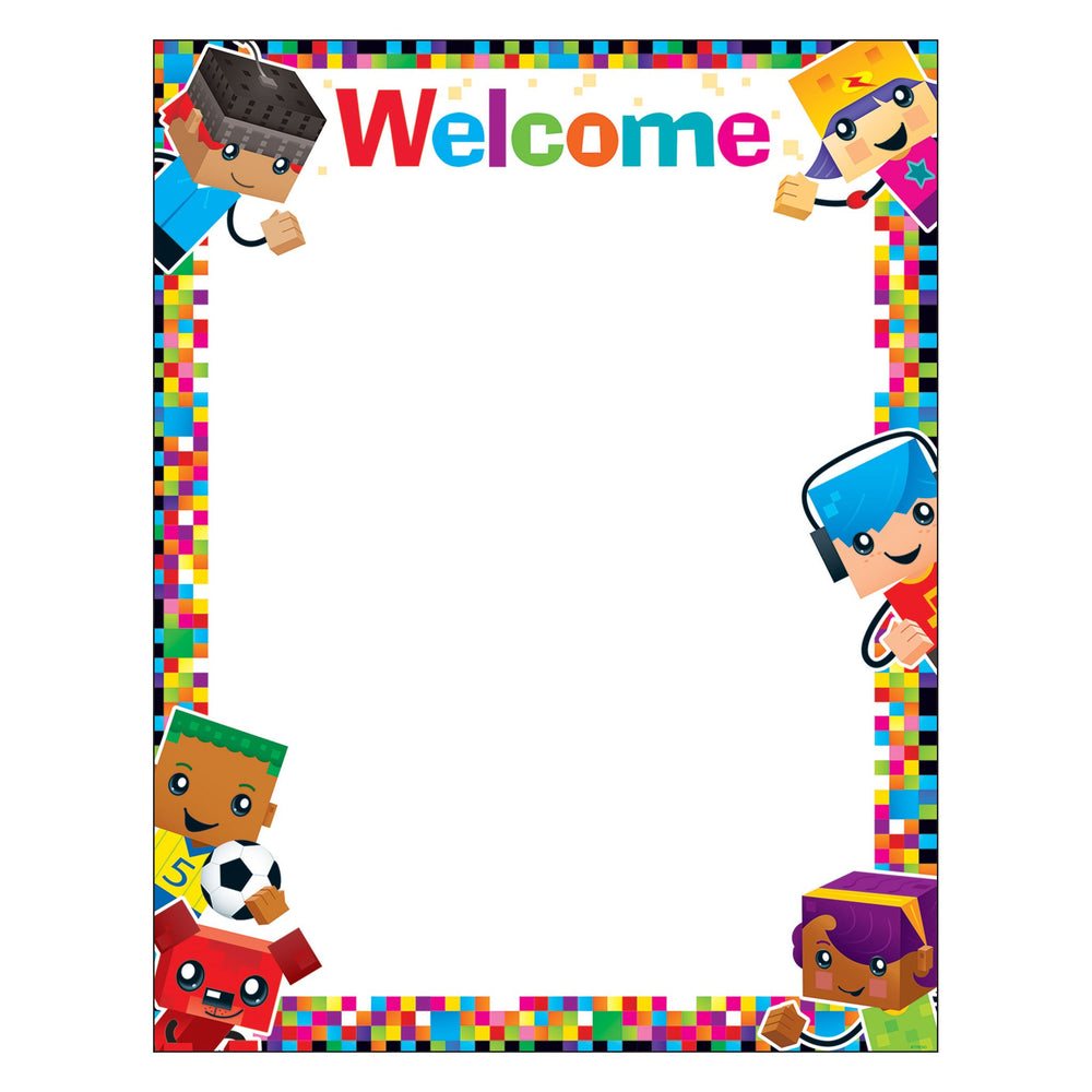 T38379 Learning Chart Welcome Block Star Kids
