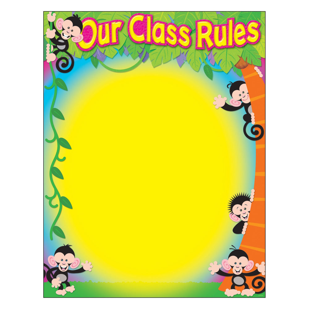 T38441 Learning Chart Our Class Rules Monkey Mischief