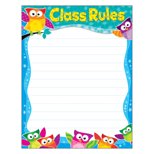 T38444 Learning Chart Owl Stars Class Rule