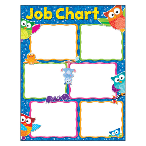 T38445 Learning Chart Owl Stars Job Chart