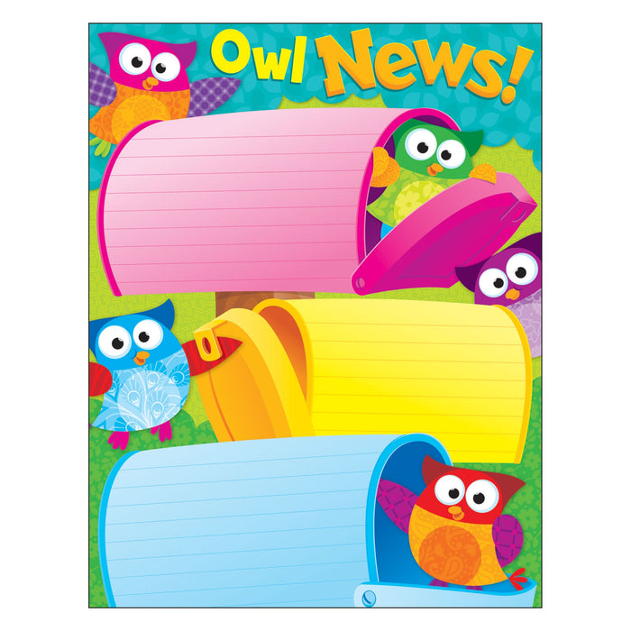 T38449 Learning Chart Good News Owl Stars