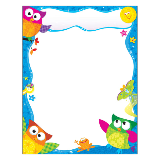 T38450 Learning Chart Blank Owl Stars