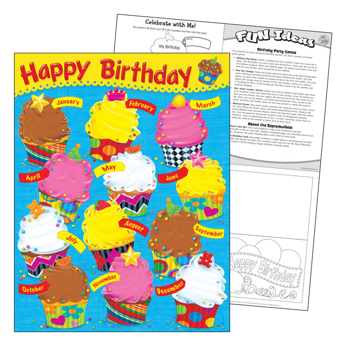 T38454 Learning Chart Birthday Bake Shop