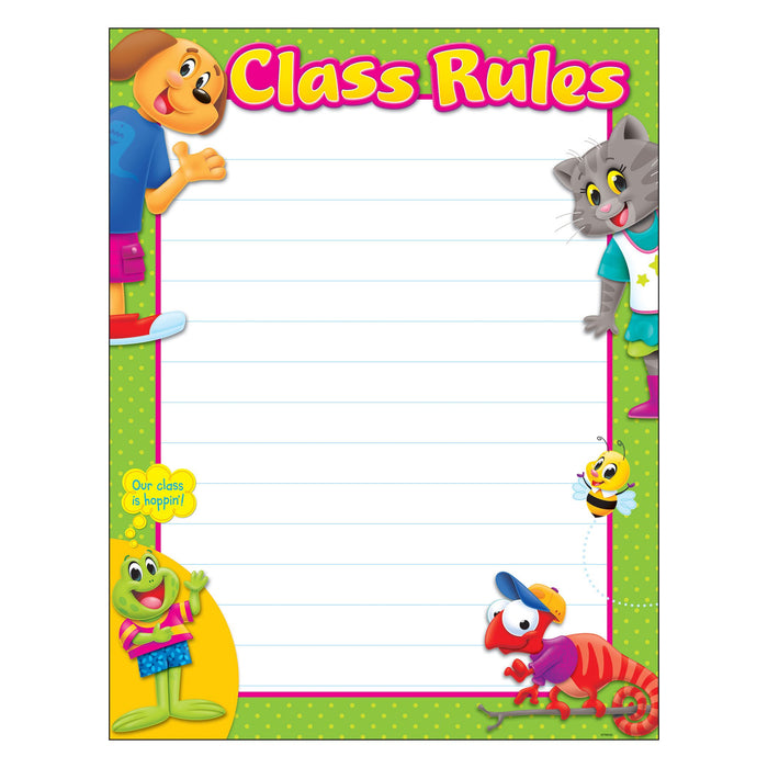 T38459 Learning Chart Class Rules Playtime Pets