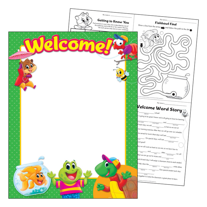 T38460 Learning Chart Welcome Playtime Pets