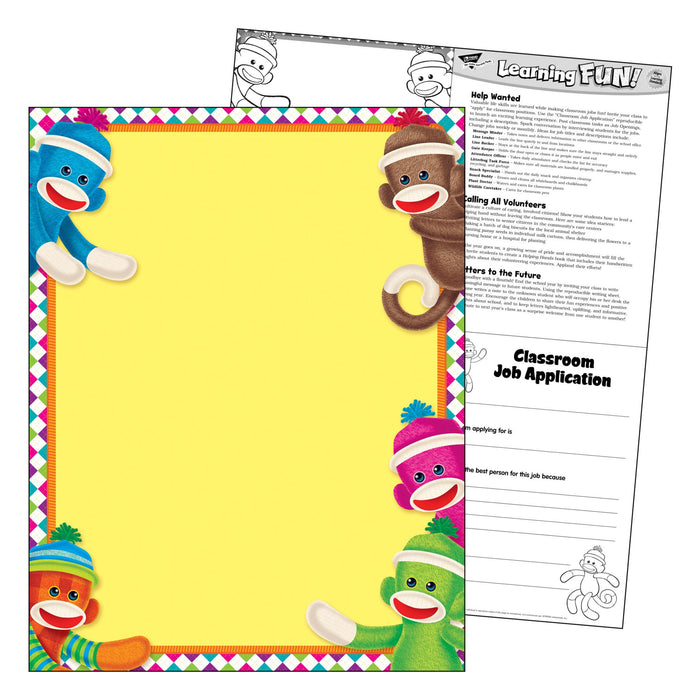 T38470 Learning Chart Sock Monkey
