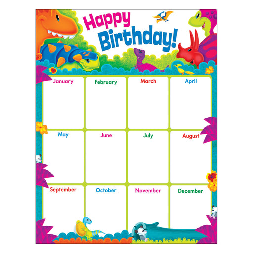 T38484 Learning Chart Happy Birthday Dinosaur Pals
