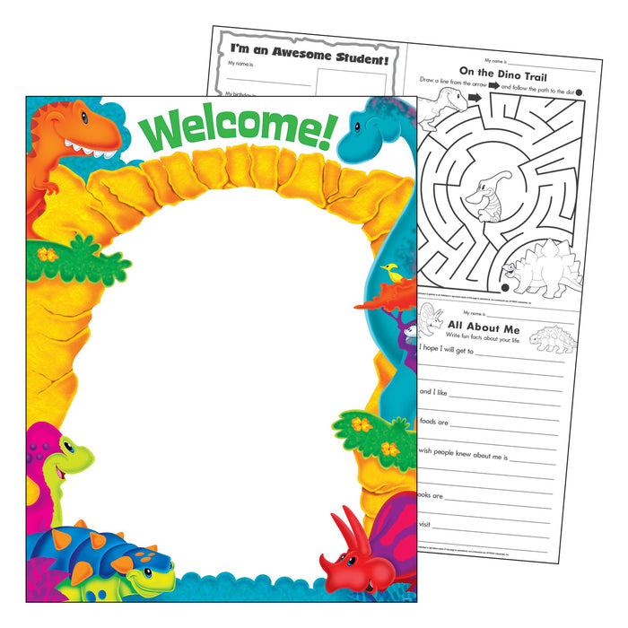 T38487 Learning Chart Welcome Dinosaur Pals