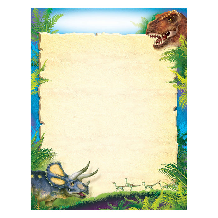 T38491 Learning Chart Blank Realistic Dinosaurs
