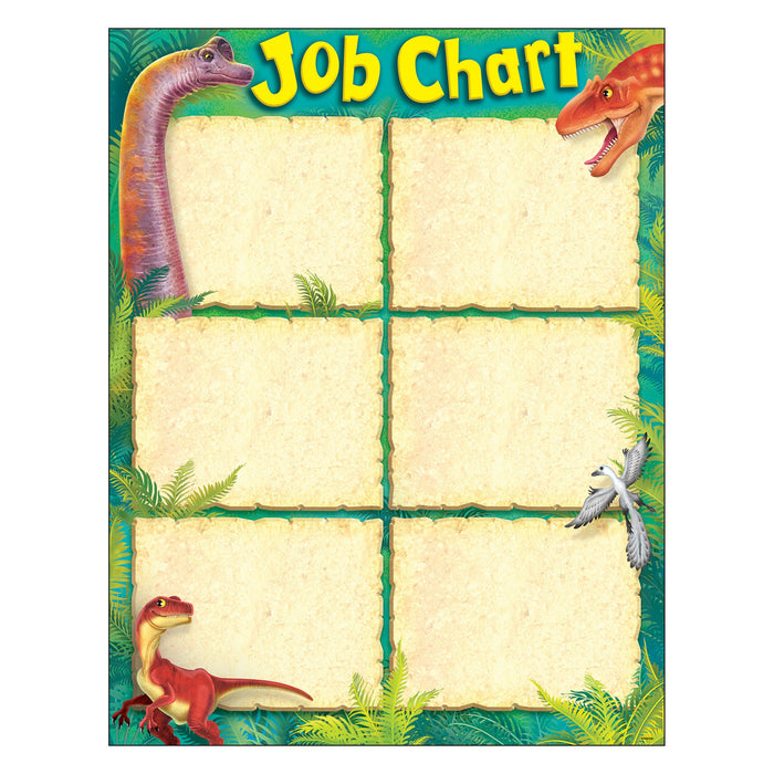 T38492 Learning Chart Realistic Dinosaurs