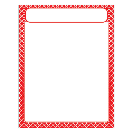 T38600 Learning Chart Moroccan Red