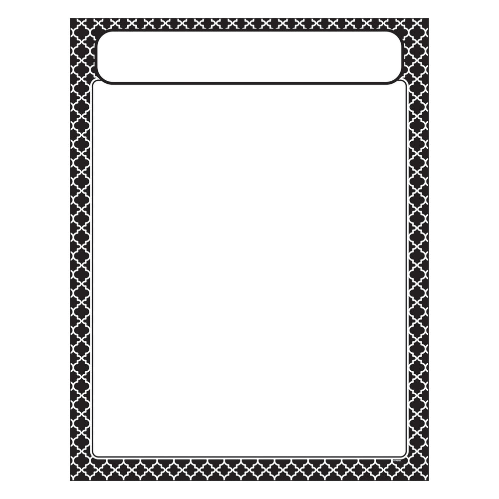 T38601 Learning Chart Moroccan Black