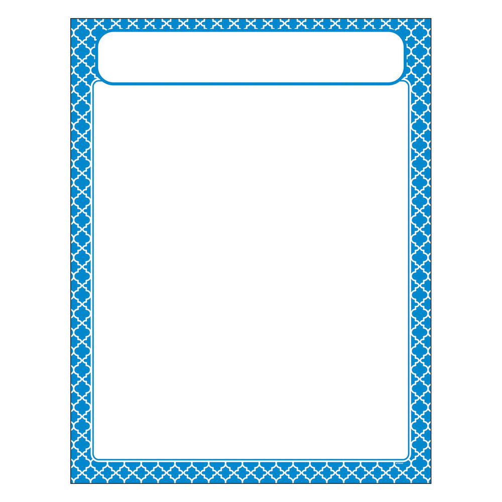 T38602 Learning Chart Moroccan Blue