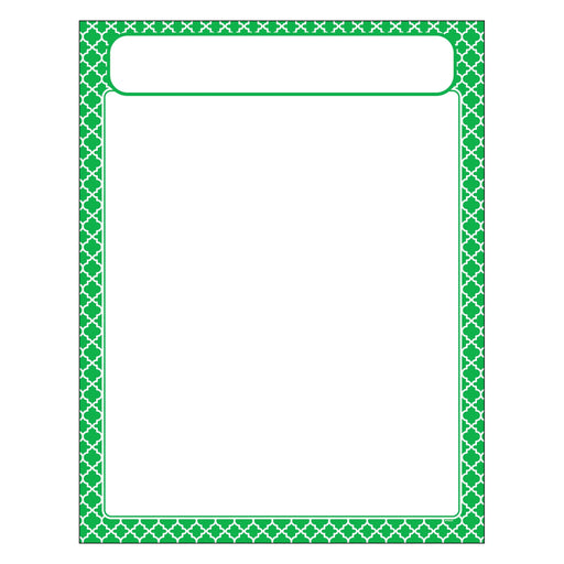 T38603 Learning Chart Moroccan Green
